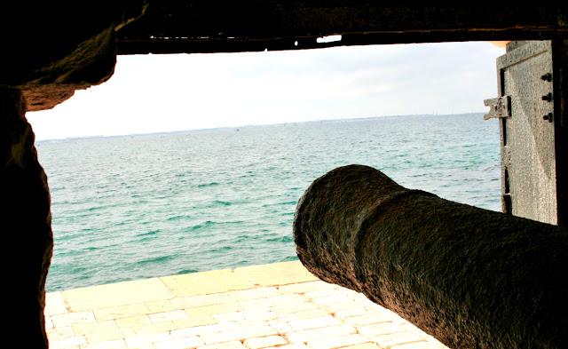 cannone, mare, acqua, castello