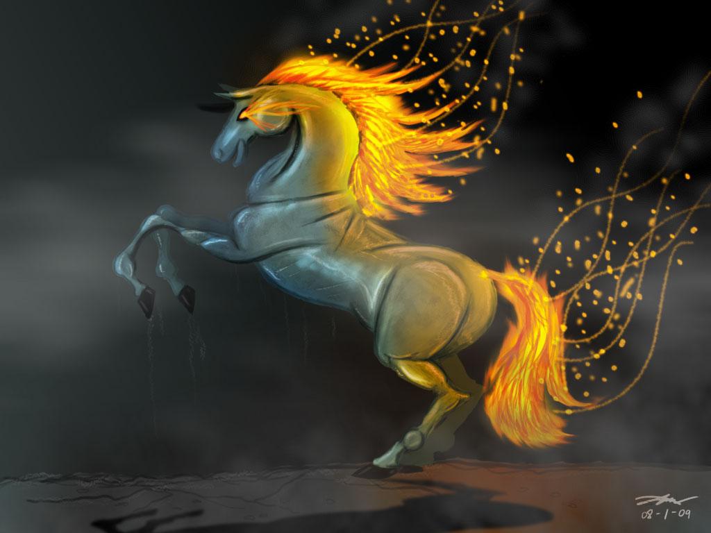Free Desktop Wallpaper Fire: Free Desktop Fire Horse Eddition