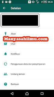 Mengatur penyimpanan data WhatsApp