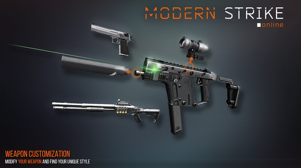 Modern Strike Online weapon customization