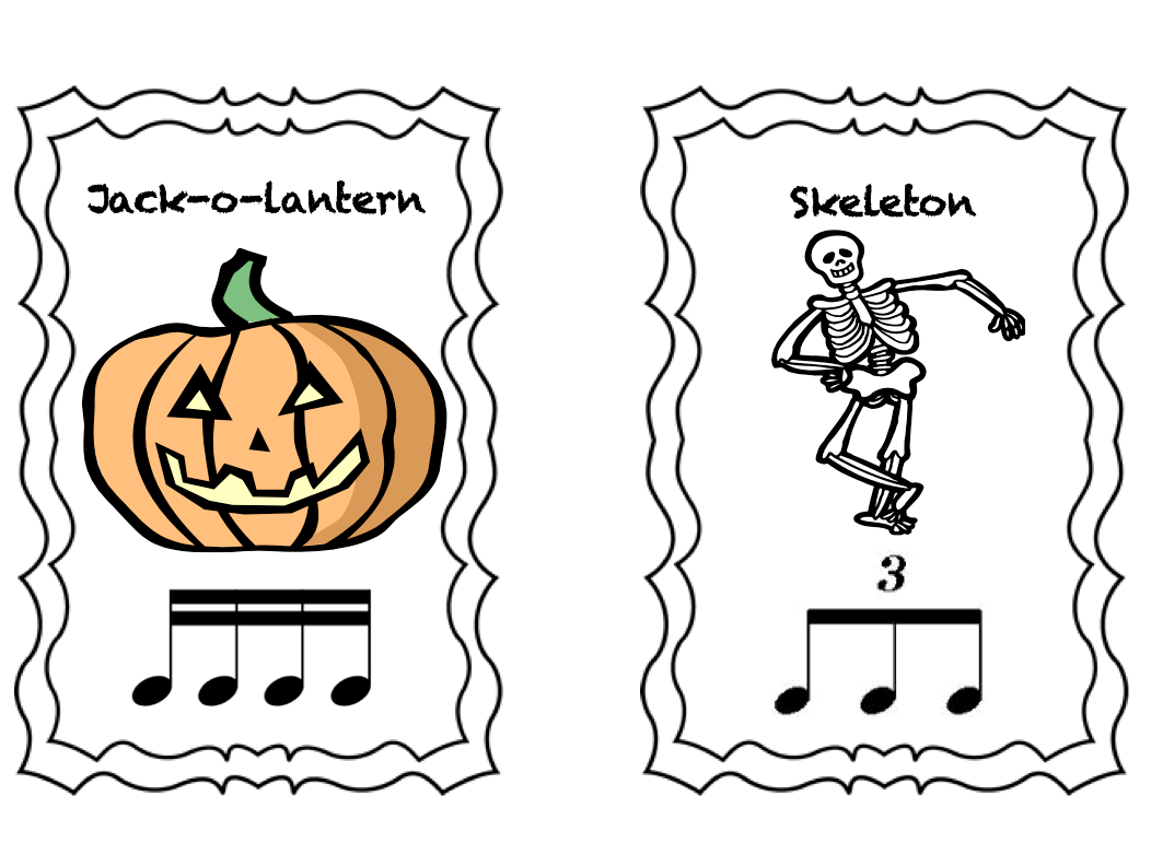 Stay Tuned 2 4 Tuesday Free Halloween Printables And Rhythm Cards