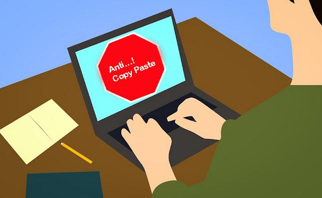 Cara Agar Artikel Postingan Blog Tidak Bisa Di Copy Paste Oleh Orang Lain 100% Berhasil