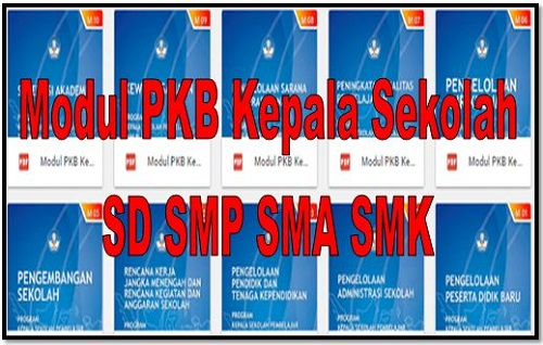 Modul PKB Kepala Sekolah SD SMP SMA SMK
