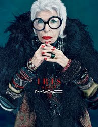 Iris Apfel partners with MAC Cosmetics for colour collection