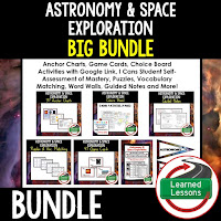 Astronomy and Space Exploration, EARTH SCIENCE MEGA BUNDLE, Earth Science Curriculum, Anchor Charts, Game Cards, Puzzles, Vocabulary Activities, Choice Boards, Digital Interactive Notebooks, Word Walls, Picture Puzzles, Test Prep
