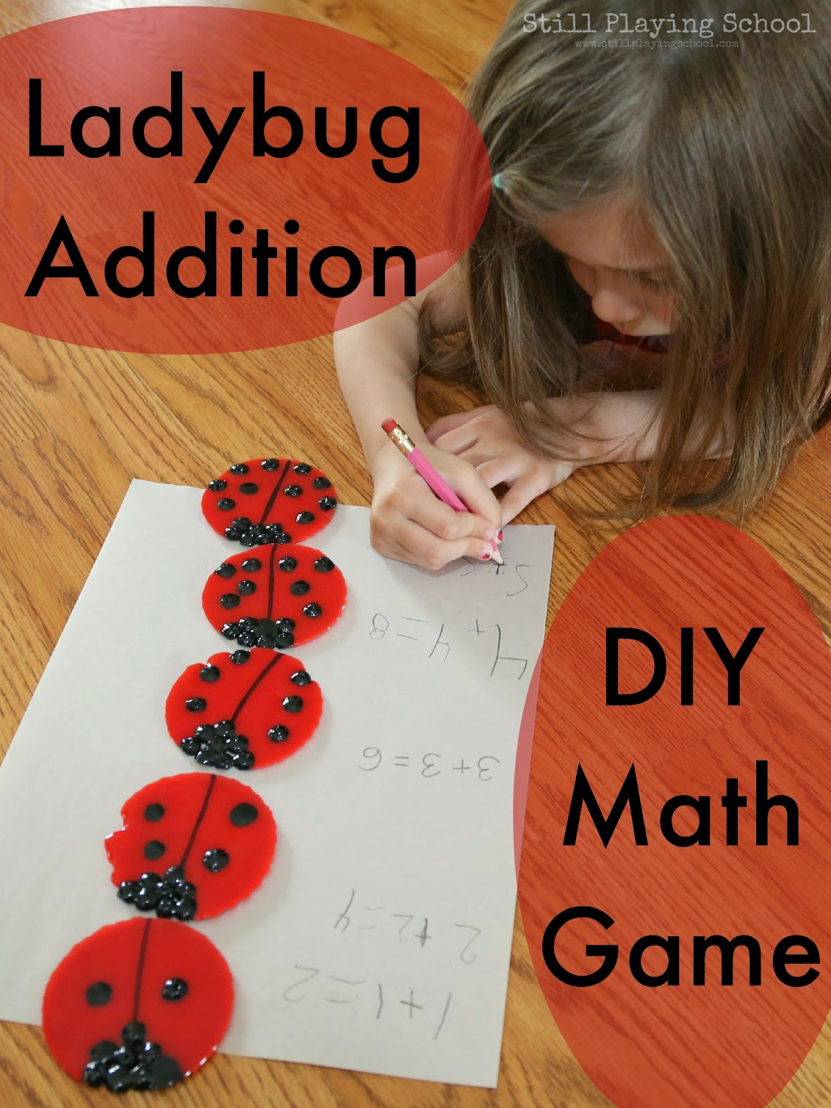 Ladybug Doubles Addition Diy Math Game