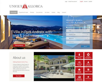 Unique Mallorca real estate website design
