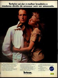 propaganda brim Terbrim Santista- 1974. década de 70. moda anos 70; propaganda anos 70; história da década de 70; reclames anos 70; brazil in the 70s; Oswaldo Hernandez