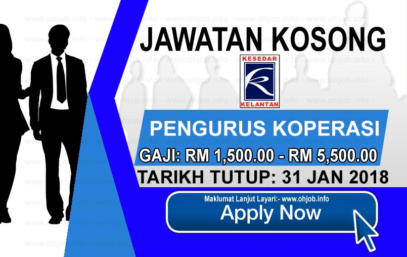 Jawatan Kerja Kosong Lembaga Kemajuan Kelantan Selatan - KESEDAR logo www.ohjob.info januari 2018