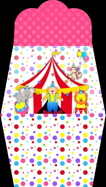 El Circo Especial Niñas: Invitaciones con Forma de Bolso para Imprimir Gratis.