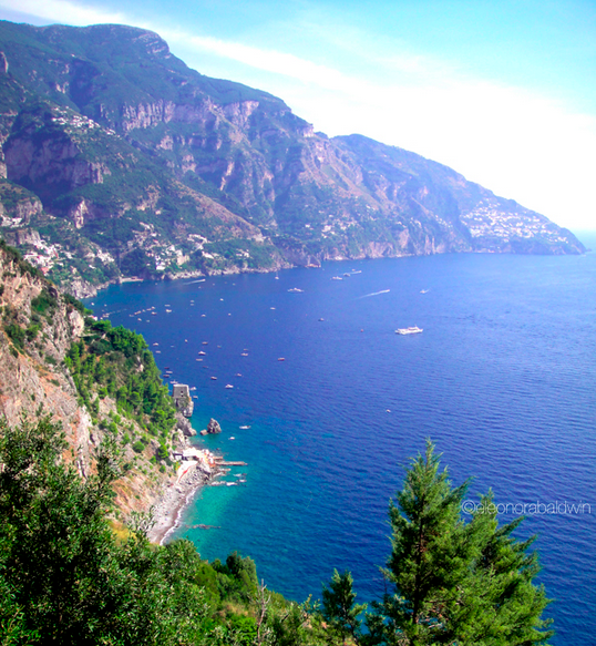 Positano just around the bend