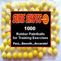 Rubber Training Paintballs