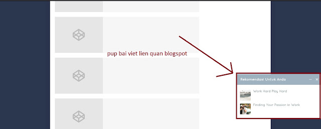 Bài viết liên quan pup khi cuộn trang trên blogspot