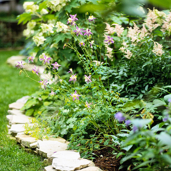 Flat Stone Edging: Dr. Dan's Garden Tips: Edging Options For Your Beds