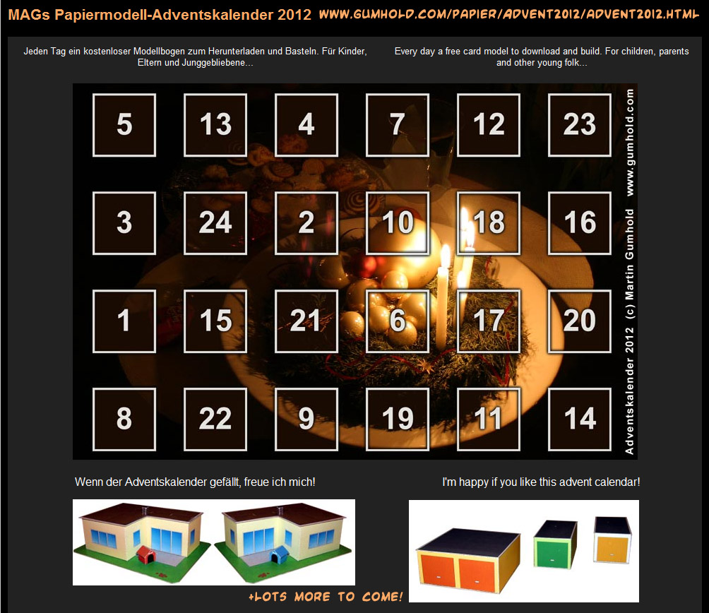 Winner in 2012 – advent calendar day 19 / 20 / day 21