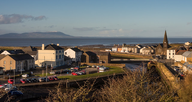 Photo of Maryport in Cumbria from Mote Hill
