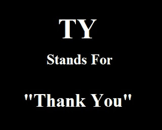 TY Stands For Thank You