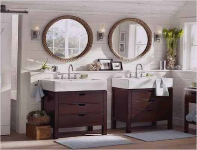 Bathroom Two Sink Cabinets