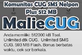 Cara Daftar Komunitas CUG SMS Nelpon Plus 512 MB