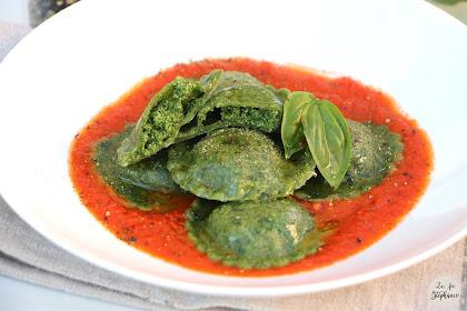 Ravioli verts aux épinards faits maison, sans machine à pâte ni robot, recette végétale