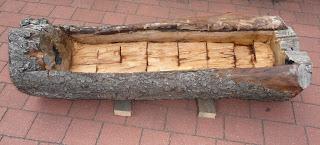 donica z kłody drzewa