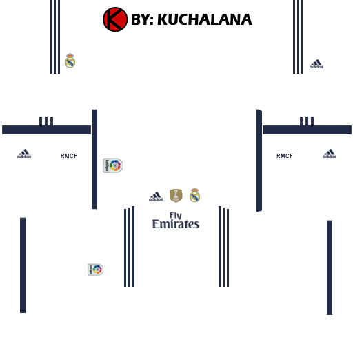 Real Madrid Kits 2016/2017 | Dream League Soccer 2015