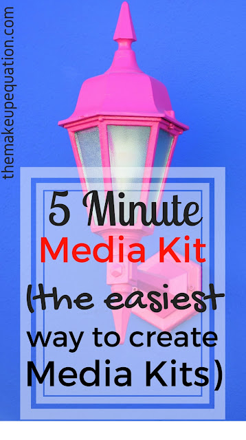 how to create media kits for brands quickly and easily. #mediakit #affiliate #brands #affiliatemarketing #bloggingtips #bloggingadvice