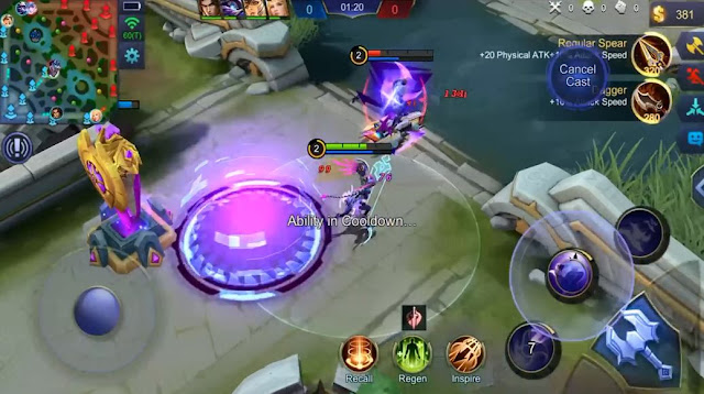 Gameplay Karrie Mobile Legends