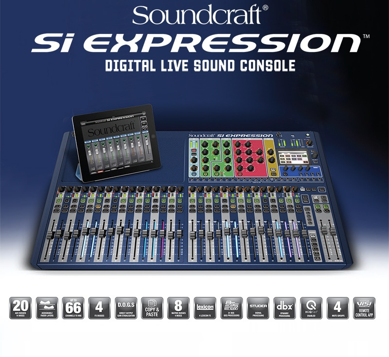 kurnia musik semarang soundcraft si expression 3 32 faders digital mixer. Black Bedroom Furniture Sets. Home Design Ideas