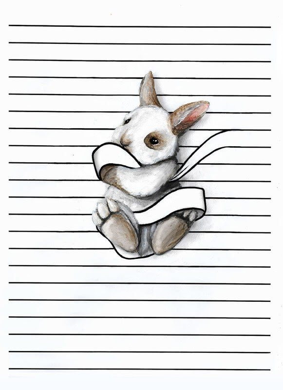 11-White-Rabbit-Iantha-Naicker-Drawing-of-Lines-and-Animals-www-designstack-co
