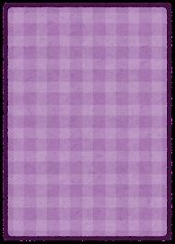 トレーディングカードのテンプレート(裏・紫)