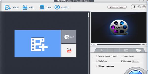 برنامج WinX HD Video Converter لتحويل جميع صيغ الفيديو