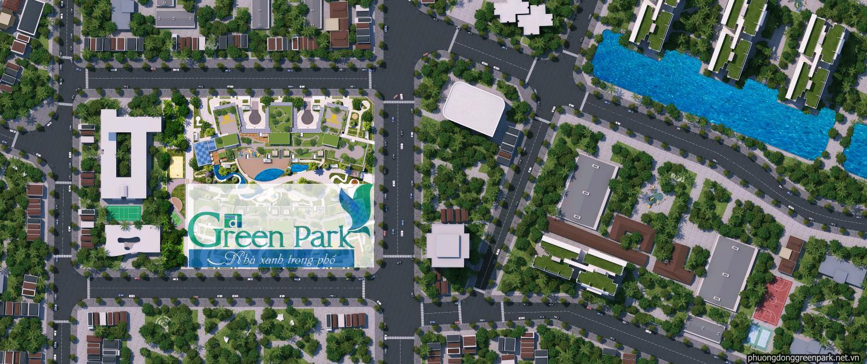 Mặt bằng tổng thể dự án Phương Đông Green Park