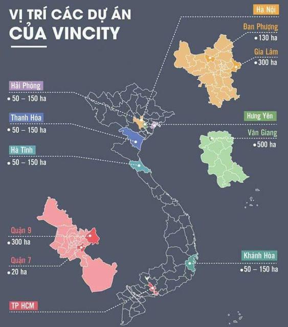 vị trí triển khai dự án VinCity