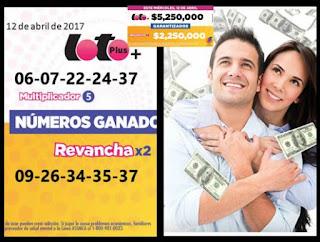 loto-plus-puerto-rico-numeros-ganadores-miercoles-12-4-2017
