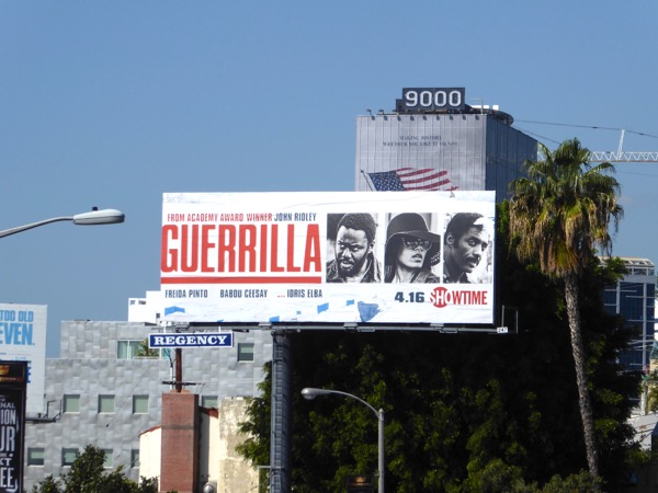 Guerrilla series launch billboard