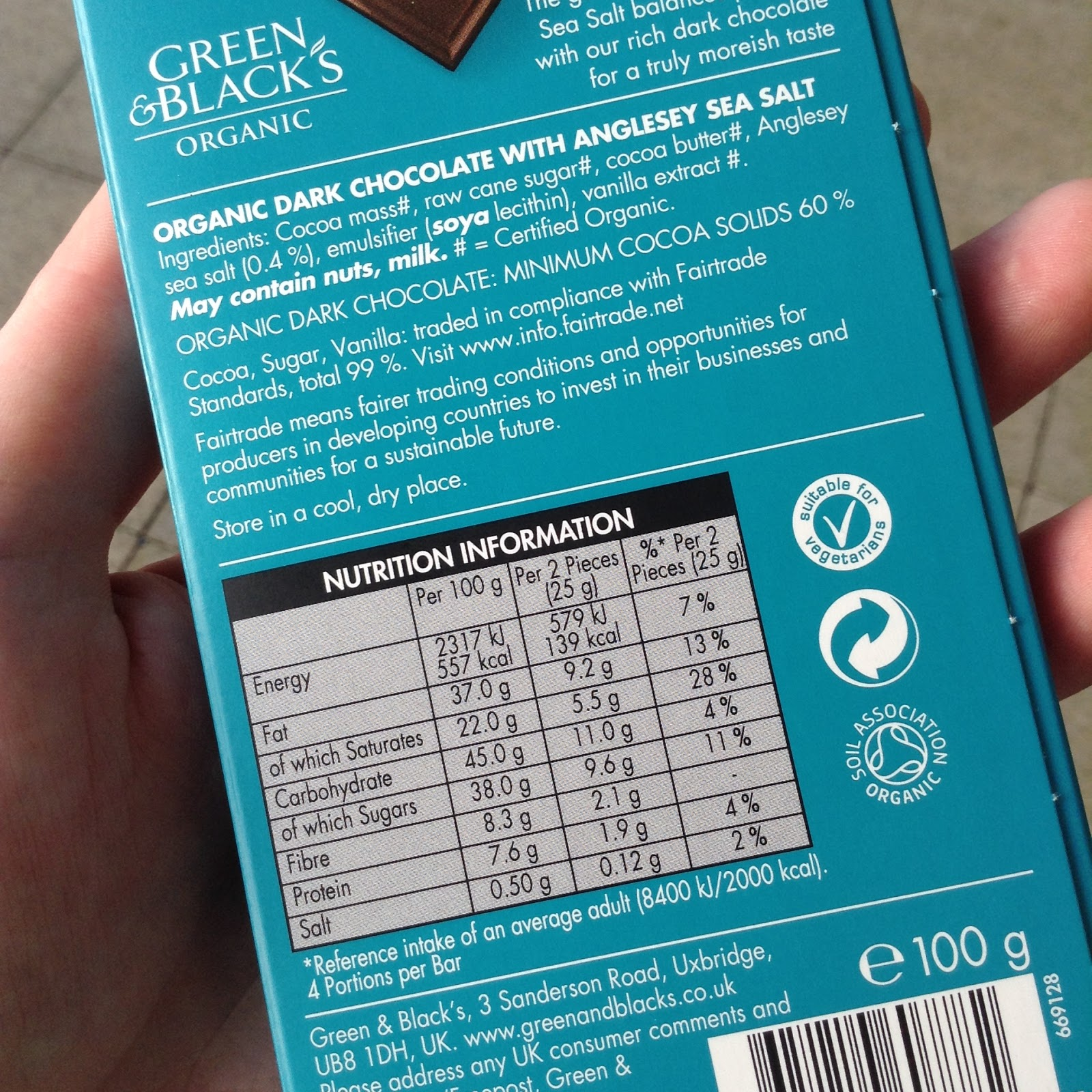 Is Green And Blacks Organic Dark Chocolate Suitable For Vegans