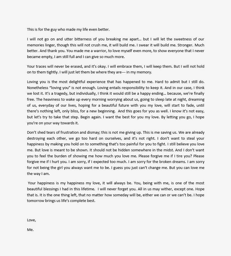 Open letter to the guy i love