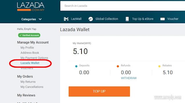 Cara Mudah Beli Barang di Lazada Guna E Wallet