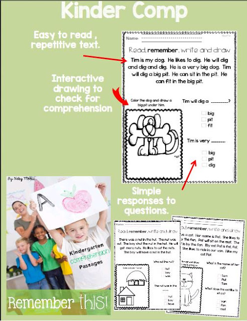 early comprehension for kindergarten