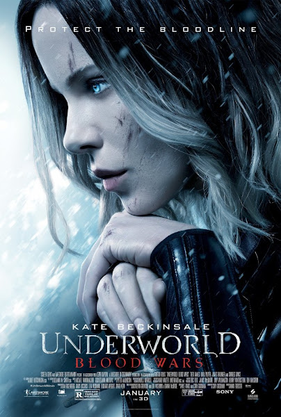Poster of Underworld Blood Wars 2016 Hindi 720p HDRip Dual Audio Full Movie