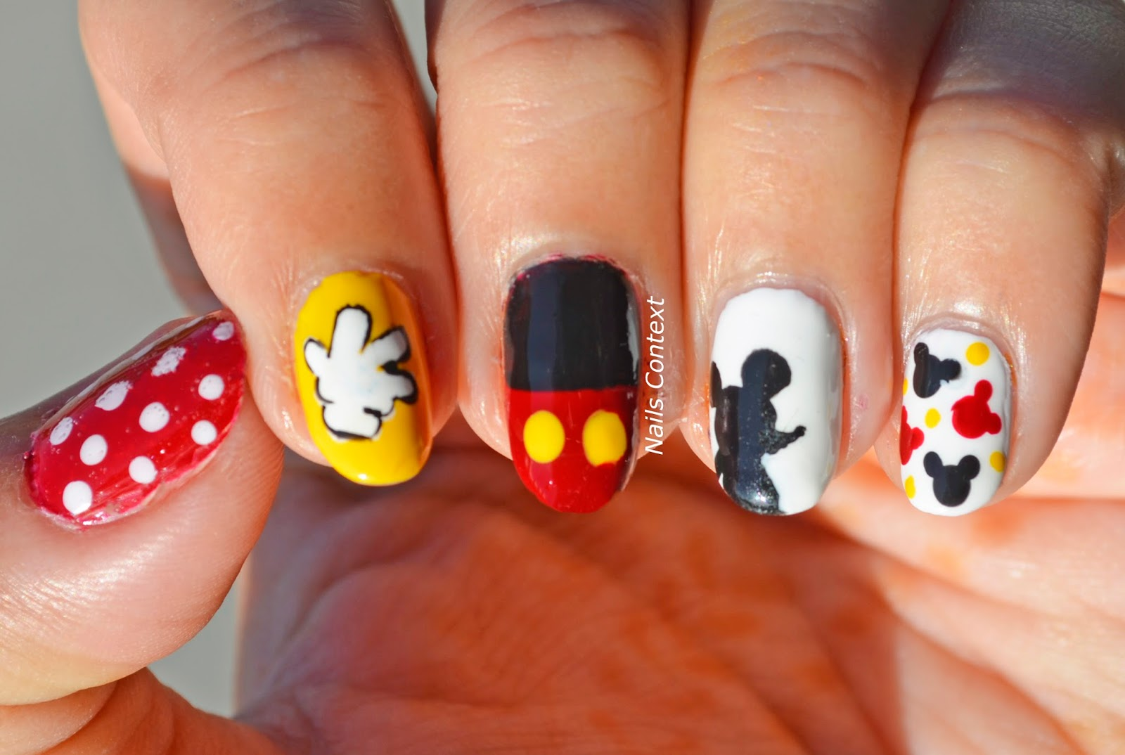 Nails Context: Mickey Mouse Nails