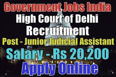 High Court of Delhi Recruitment 2017 Apply Online