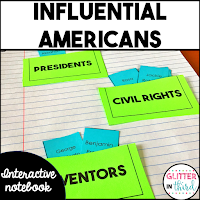Famous Americans interactive notebook activity