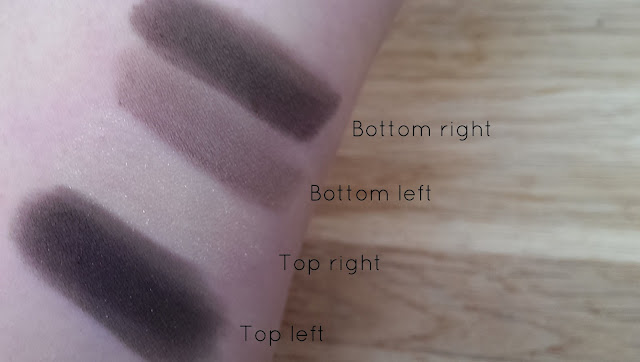Swatches of the Chanel Mystere quad