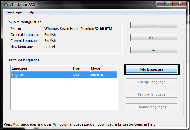 How to install Language packs in windows 7 service pack 1
