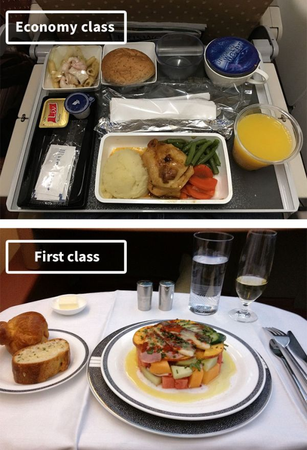 The Difference Between Airline Food In First Class Vs Economy