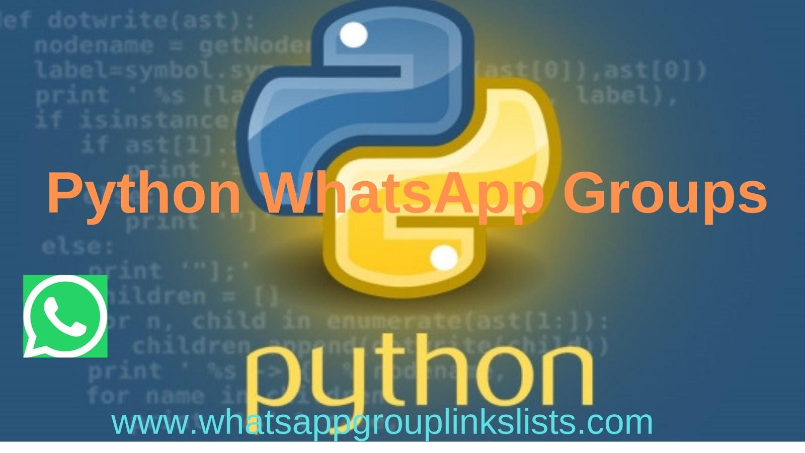 Join Python WhatsApp Group Links List