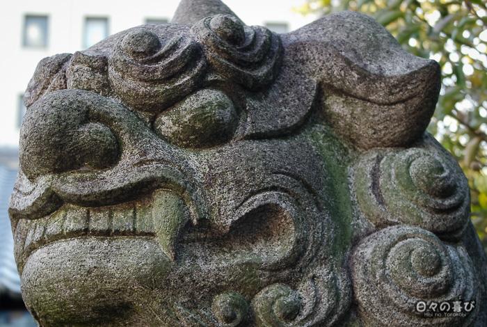 Statue de gardien, sanctuaire Horikoshi, Tennôji, Osaka