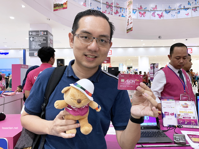 Got my AEON Member Plus Visa Card and the limited edition Yokina Bear for free!